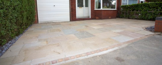 Indian Stone driveway completed in Offerton