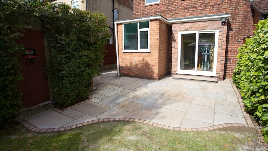 New Indian Stone Patio Completed Mile End Stockport