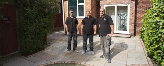 New Indian stone patio completed in Mile End, Stockport