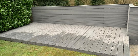 Composite Decking With walll