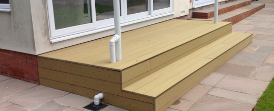 Wood-alternative composite decking by Garden Pride of Stockport