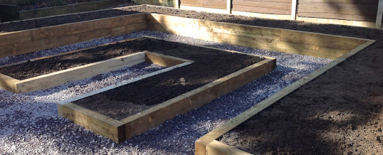 We have just completed raised flower beds at Motcomb Road, Heald Green
