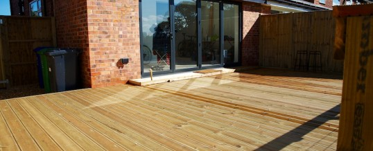 Decking project in Disbury