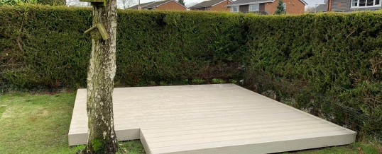 Another composite decking project in Stockport
